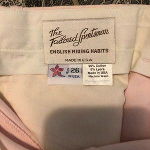 The Tailored Sportsman Pink Breeches 26 Regular